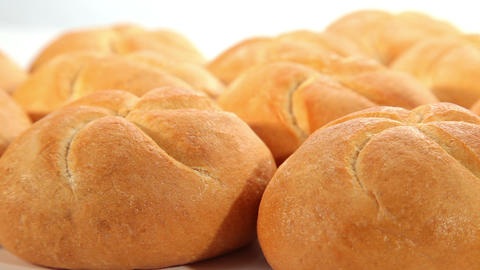 Tasty bread, rolls, dolly shot Stock Video Footage