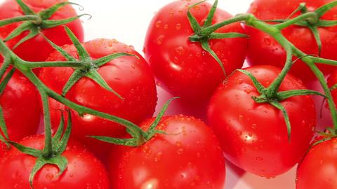 Fresh ripe red tomato - dolly shot Stock Video Footage
