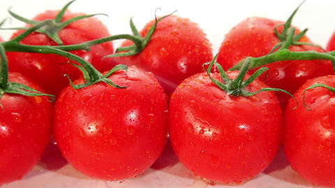 Tomato Fresh, Ripe Red Tomatoes Dolly Shot stock footage