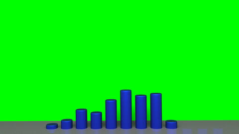 Chart - Animation - Blue Stock Video Footage