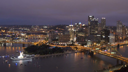 Pittsburgh Skyline stock footage