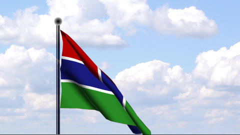 Animated Flag of Gambia / Animierte Flagge von Gam Stock Video Footage