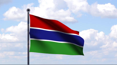 Animated Flag of Gambia / Animierte Flagge von Gam Animation