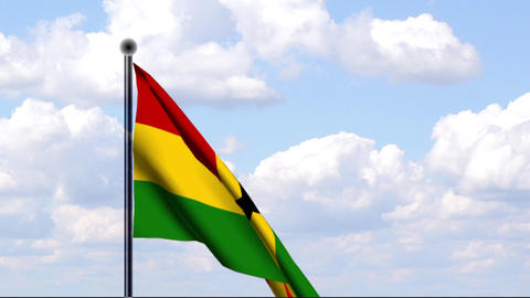 Animated Flag of Ghana / Animierte Flagge von Ghan Stock Video Footage