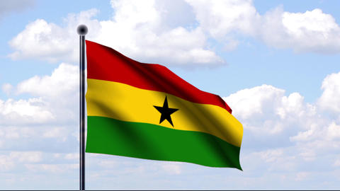 Animated Flag of Ghana / Animierte Flagge von Ghan Animation