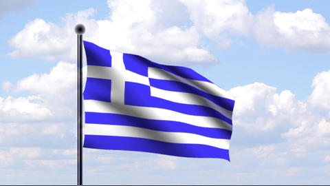 Animated Flag of Greece Animation