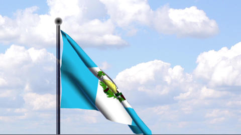 Animated Flag of Guatemala Stock Video Footage