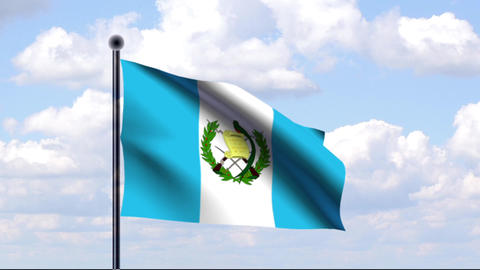 Animated Flag of Guatemala Animation