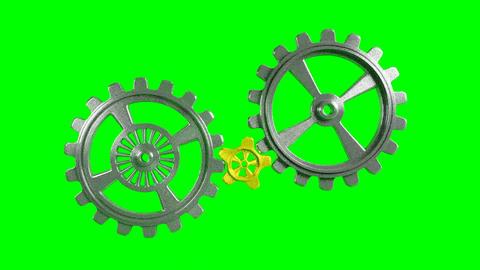Cogwheels - Animation - Green Background Animation