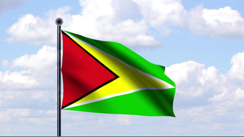 Animated Flag of Guyana / Animierte Flagge von Guy Animation
