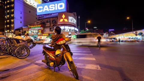 4k - VIETNAMESE MOTO TAXI - TIME LAPSE Stock Video Footage