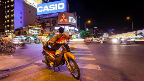 4k - VIETNAMESE MOTO TAXI - TIME LAPSE Footage