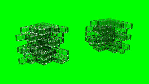 3D Cube - Assembly Stock Video Footage