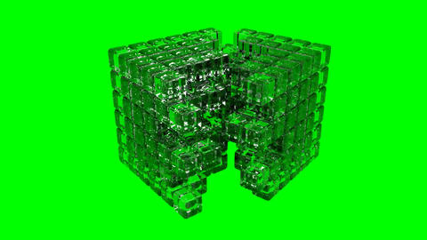 3D Cube - Assembly Animation