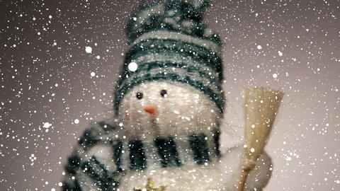 Snowman, seamless loop Stock Video Footage