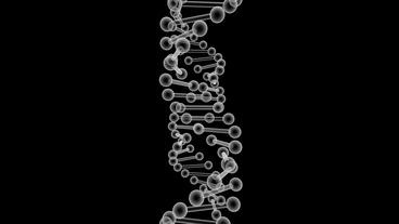 3D plastic DNA string rotation Stock Video Footage