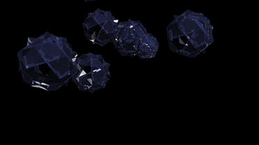 blue glass geometric Polyhedron with star pattern in space Stock Video Footage
