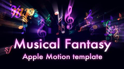 Musical Fantasy Intro Apple Motion Template