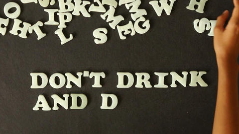 Don't Drink And Drive Stock Video Footage