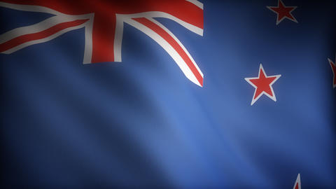 Flag of New Zealand Stock Video Footage