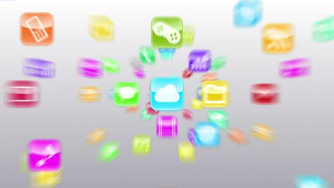 Smart Phone apps G Gw 1 HD Stock Video Footage