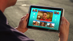 Video Chat on Tablet Stock Video Footage