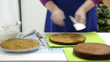 Cutted Cake stock footage