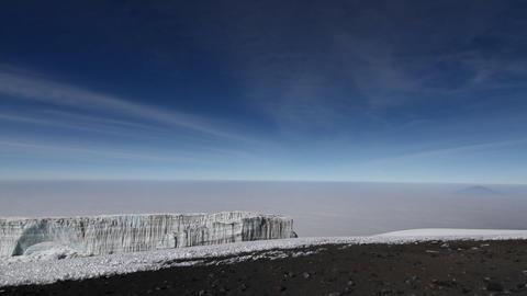 Summit glacier pan Stock Video Footage