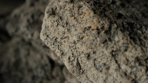Closeup of rock in cave Stock Video Footage