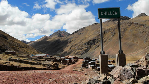 Chillca village sign Footage