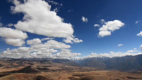 Panorama of Sacred Valley and Andes Stock Video Footage