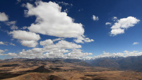 Panorama of Sacred Valley and Andes Footage
