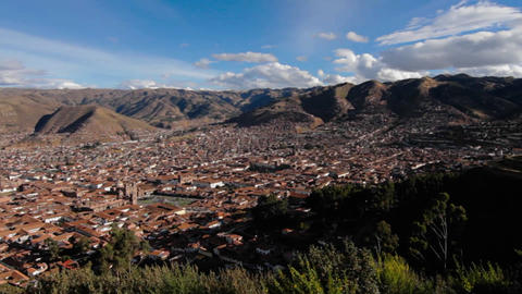 Panorama of Cusco Stock Video Footage