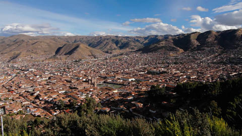 Panorama of Cusco Footage