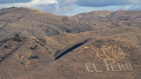 Viva El Peru in hillside Stock Video Footage