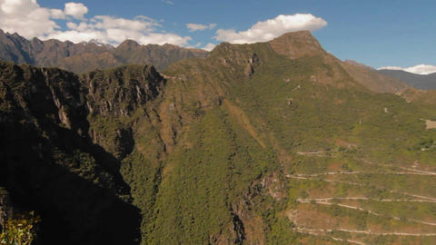 Pan to Incan fortress Stock Video Footage
