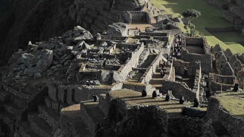 Machu Picchu part of the complex Stock Video Footage