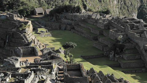 Centre of Machu Picchu Complex Stock Video Footage