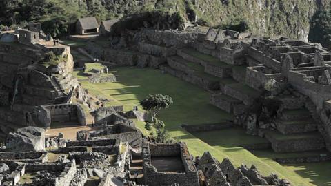 Centre of Machu Picchu Complex Stock Video Footage