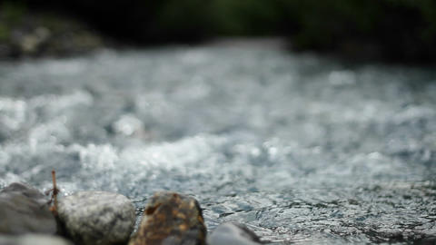 Flowing water down stream Stock Video Footage