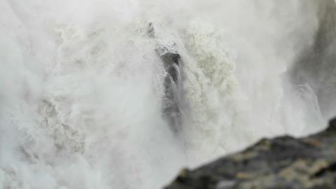 Water flowing over rock in waterfall Stock Video Footage