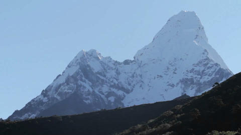 Clear view of Ama Dablam Stock Video Footage