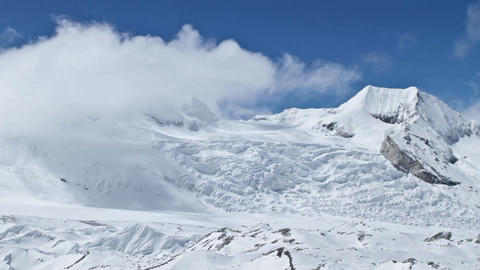 Mountains around Cho Oyu Stock Video Footage