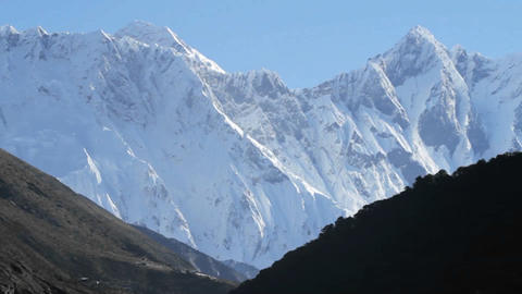 Everest with a bird flying up high Stock Video Footage