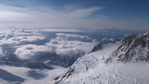 Pan from near Denali's summit Stock Video Footage