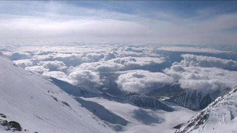 Pan from near Denali's summit Stock Video Footage