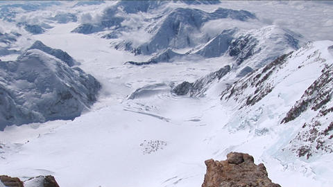 Sitting on the edge, Mount Foraker, basecamp Footage