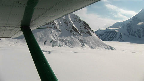Lift-off from glacier Stock Video Footage