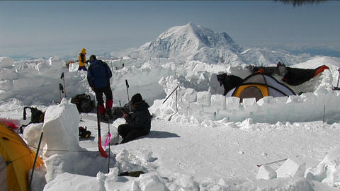 Camp at Denali Stock Video Footage