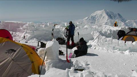 Camp at Denali Stock Video Footage